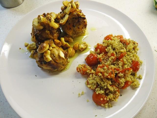Honig-Safran_Huhn_Tomaten-Quinoa-Salat